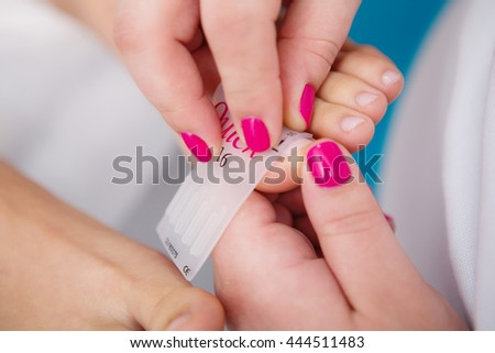 Close up pedicure process