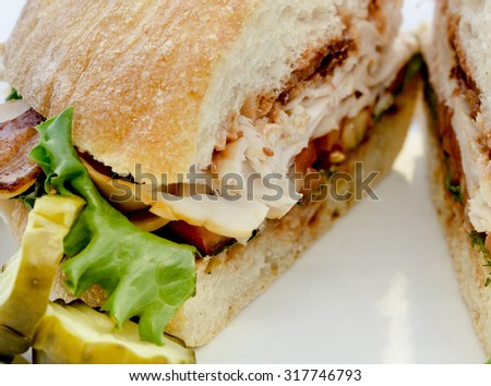 Close up photo of BLT sandwich