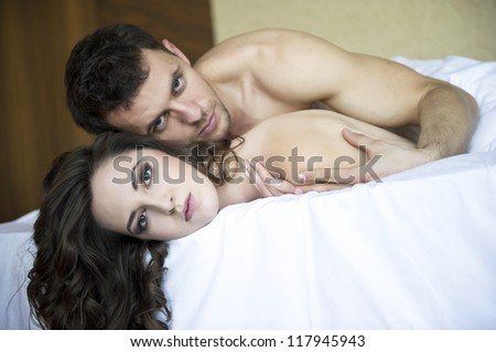 Close up portrait of an attractive young couple