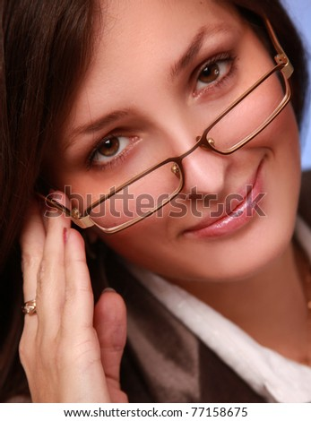 close-up portrait of beautiful businesswoman