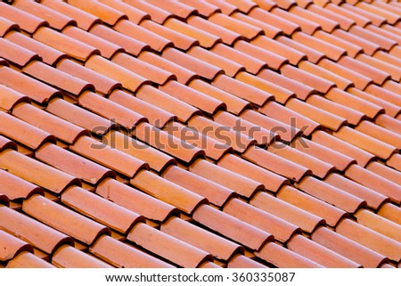 close up red roof