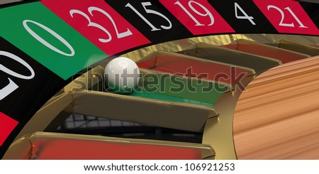 Roulette land on 0