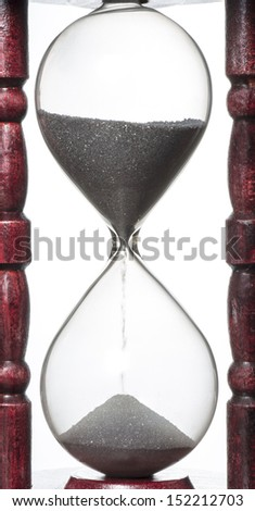 close-up shot of a hourglass