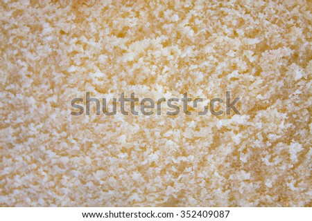 Close up Texture of butter cake background