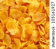 Close up view of corn flake cereal, a healthy and nutritious breakfast food - stock photo