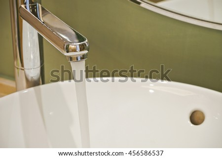 Close up water tap.