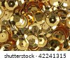 Close view of gold sequins - stock photo