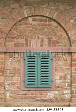 Blue aged door ornament sidi bou stock photo 474038830 for Entrance to rivet city