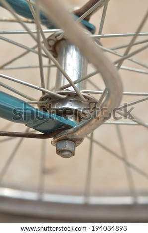 Closeup bicycle wheel