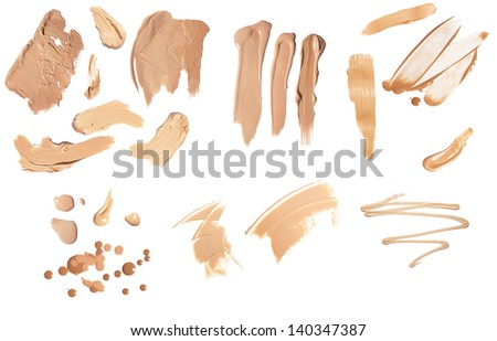 closeup foundation huge set isolated on a white
