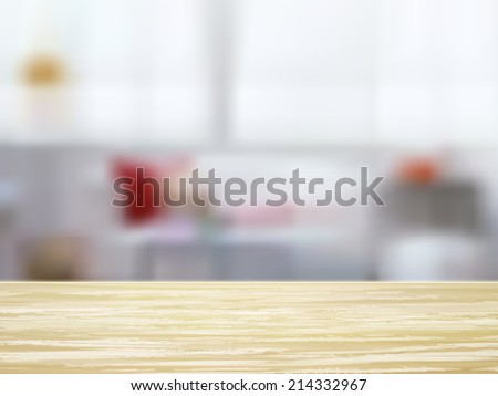closeup look of wooden desk and interior