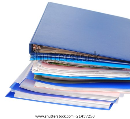 closeup note folders