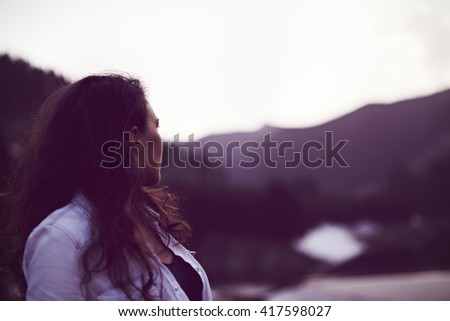sunset hispanic single women Find single woman stock images in  single or divorced woman alone missing a boyfriend while swinging on the beach at sunset  single women in white dress.