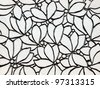 closeup of antique wall with floral motive - stock photo