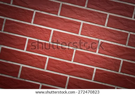 Closeup of brick wall as background vignette abstract