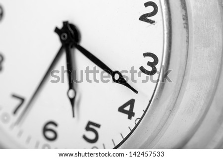 Closeup of classical clock face