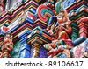 Closeup Of Deities At A Hindu temple - stock photo