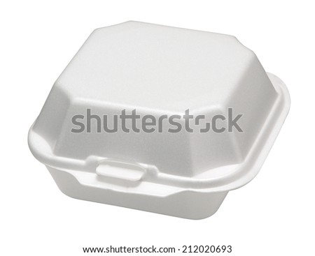 Closeup of food  container.