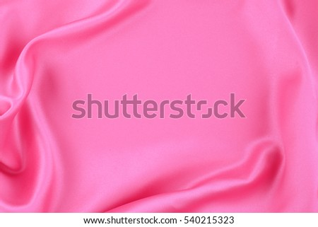 Closeup of rippled silk fabric for background