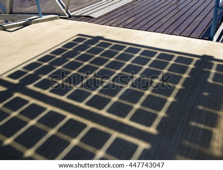Closeup of solar panels  shadow