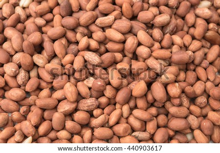 closeup pile peanut seed for background image