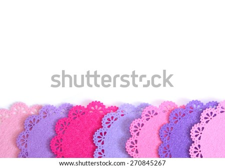 Closeup Textured Background Image of Bright Colored Dollies In a Row