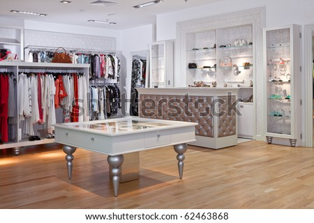 Department Clothing Store Interior Clothing store interior