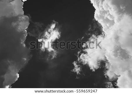 cloud abstract/ cloud is an aerosol comprising a visible mass of minute liquid droplets or frozen crystals, both of which are made of water or various chemicals.