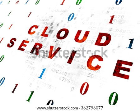 Cloud computing concept: Cloud Service on Digital background