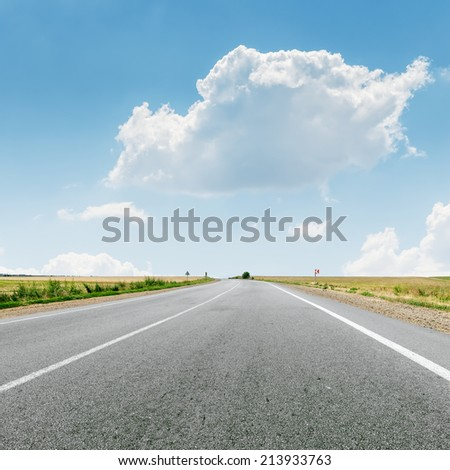 cloud over asphalt road