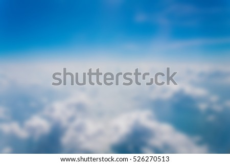 Clouds and sky blue, Viewed from an airplane window