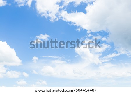 Clouds in the sky. Weather summer sky in the daytime.