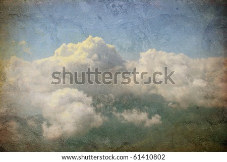 clouds on the grunge background