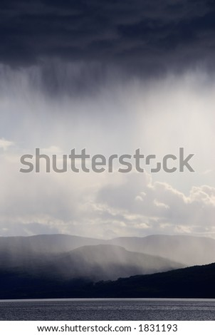 clouds with rain