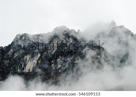Cloudy Andes at the Inca Trail