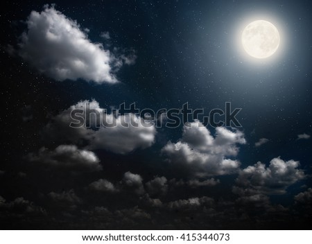 Cloudy Night Sky Stars Starry Night Sk...