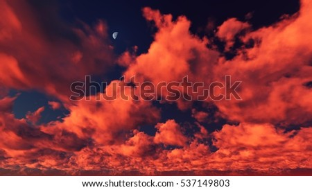 Cloudy Sky Colorful Background