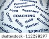 Coaching concept with vignetting effect - stock photo