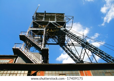 Coal mine's shaft in Zabrze, Silesia (Poland)