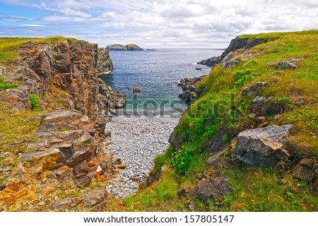 Coast of Eastern Newfoundland near Elliston, Canada