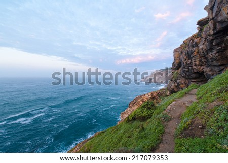 Coastal path in Mossel Bay in South Africa