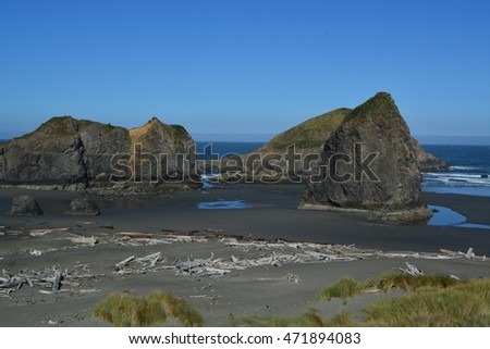 Coastal view of water  and rocks