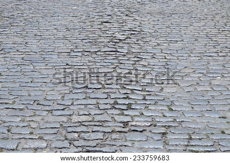 cobblestones on street as background