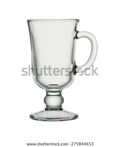 Cocktail Glass For Irish Coffee, Isolated, with clipping path