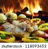 Cod potato pepper - stock photo