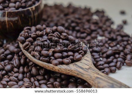 Coffee beans are very fragrant and delicious.
