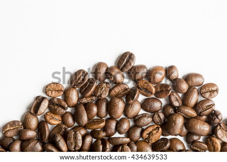 Coffee Beans background on white