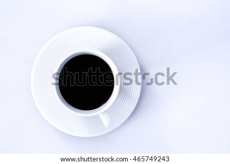 Coffee cup placed on the background and empty space.