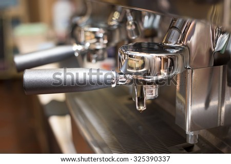 coffee machine in coffee shop