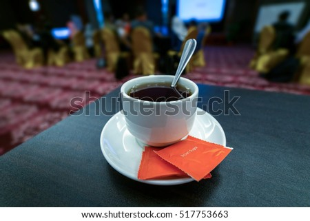 Coffee or tea break during a meeting
